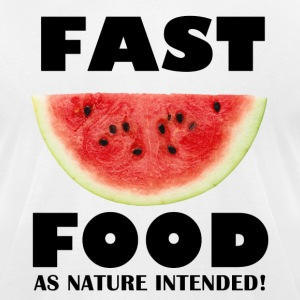 Fast Food watermelon T-Shirts - Men's T-Shirt by American Apparel