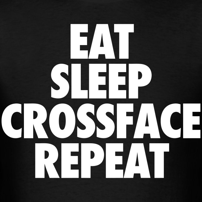 Eat Sleep Crossface Repeat Tee