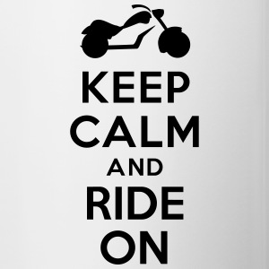 Keep calm and ride on Motorbike Accessories - Contrast Coffee Mug