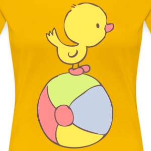 Duckling on beach ball Women's T-Shirts - Women's Premium T-Shirt