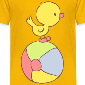 Duckling on beach ball Baby & Toddler Shirts - Toddler Premium T-Shirt