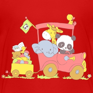Hey little Panda where are you going? Baby & Toddler Shirts - Toddler Premium T-Shirt