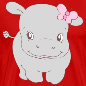 Girl Hippo Hippy T-Shirts - Men's Premium T-Shirt