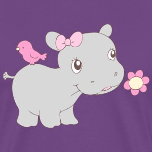 Happy Hippy Hippo Girl T-Shirts - Men's Premium T-Shirt