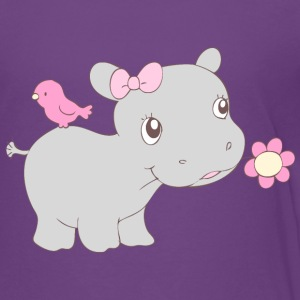 Happy Hippy Hippo Girl Kids' Shirts - Kids' Premium T-Shirt