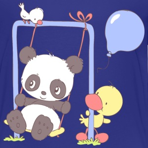 Cute Panda Bear on Swing Baby & Toddler Shirts - Toddler Premium T-Shirt