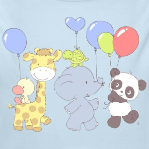 Little Panda Birthday party Baby & Toddler Shirts - Long Sleeve Baby Bodysuit