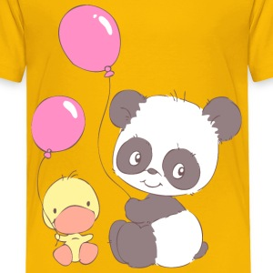 Panda and Duckling with Balloons Baby & Toddler Shirts - Toddler Premium T-Shirt