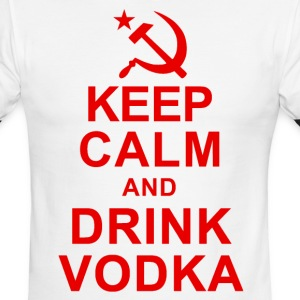 Keep Calm and Drink Vodka T-Shirts - Men's Ringer T-Shirt