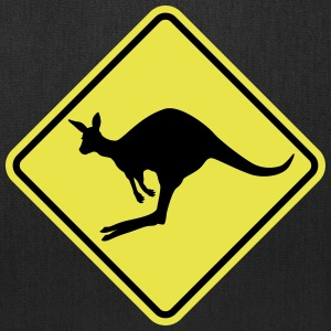 Kangaroo road sign australia Bags & backpacks - Tote Bag
