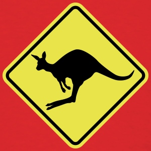 Kangaroo road sign australia T-Shirts - Men's T-Shirt