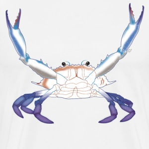 Maryland Blue Crab with arms/claws extended - Men's Premium T-Shirt