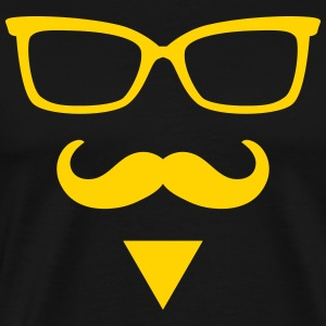Hipster Sunglasses triangle Face Mustache Beard De - Men's Premium T-Shirt