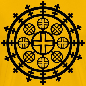 Coptic cross Eritrea Ethiopia God 1c Christ men's  - Men's Premium T-Shirt