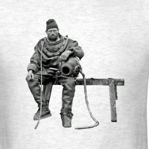 Vintage British Diver with Diving Helmet - Men's T-Shirt