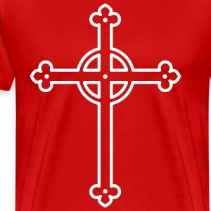 Cross God Kreuz Christ I love Jsus church men's Te - Men's Premium T-Shirt