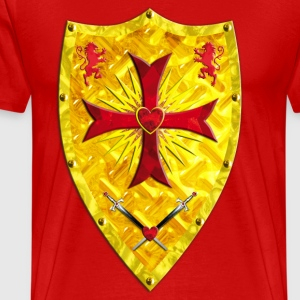 Knights Templars Crusaders Cross weapon shield men - Men's Premium T-Shirt