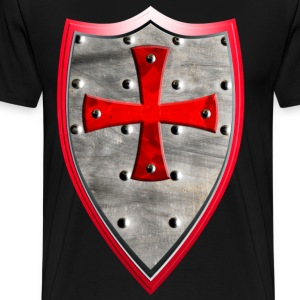 Knights Templar Crusaders Cross weapon shield men - Men's Premium T-Shirt