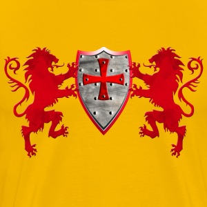 Knights Templars Crusaders Lions weapon shield men - Men's Premium T-Shirt