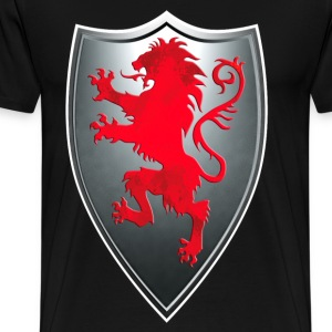 Knights Templars Crusaders Lions weapon shield Tee - Men's Premium T-Shirt