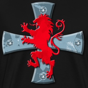 Knights Templars Crusaders Cross Lion men's Tee - Men's Premium T-Shirt