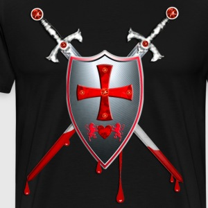 Knights Templars Sword Shield Cross weapon Tee - Men's Premium T-Shirt