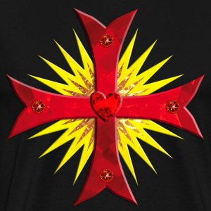 Knight Templar Crusaders Cross weapon Sun men's  - Men's Premium T-Shirt