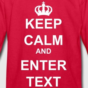 Keep Calm and Custom Text Crown  - Kids' Long Sleeve T-Shirt