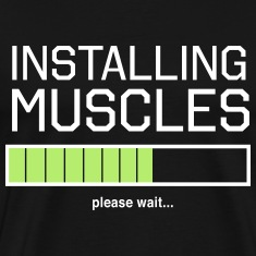 Installing Muscles. Please wait T-Shirts