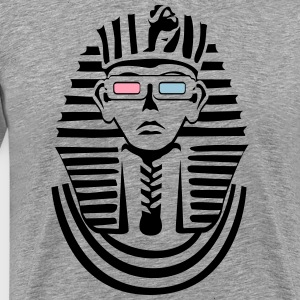 Pharaoh with 3D glasses sw Shirt - Men's Premium T-Shirt