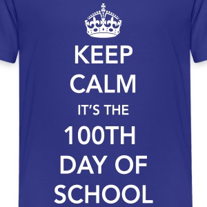 Keep calm it's the 100th day of school Kids' Shirts - Kids' Premium T-Shirt