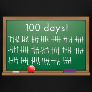 100 days of school chalkboard Kids' Shirts - Kids' Premium T-Shirt