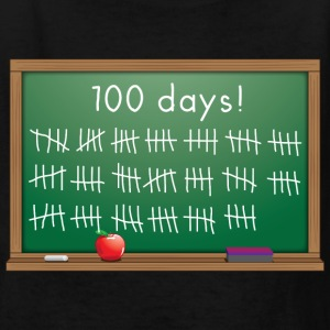 100 days of school chalkboard Kids' Shirts - Kids' T-Shirt
