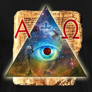 All-seeing Eye of God magic triangle Bible Alpha O - Men's Premium T-Shirt