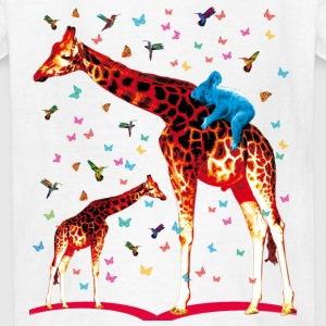 Giraffe Koala and Hummingbirds fairy tales Kids Ba - Kids' T-Shirt