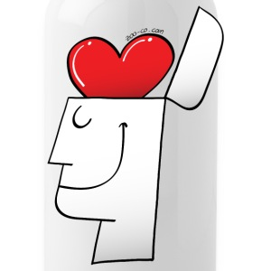 A Heart in my Head Bottles & Mugs - Water Bottle