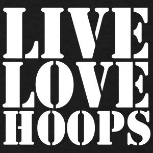 Live Love Hoops #Shooter basketball t-shirt - Men's T-Shirt