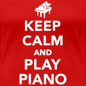Keep calm and play piano Women's T-Shirts - Women's Premium T-Shirt