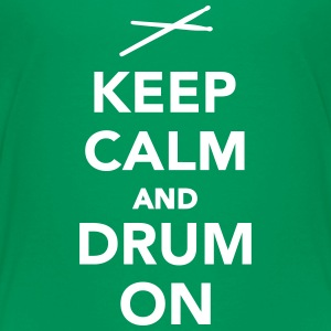 Keep calm and drum on Kids' Shirts - Kids' Premium T-Shirt