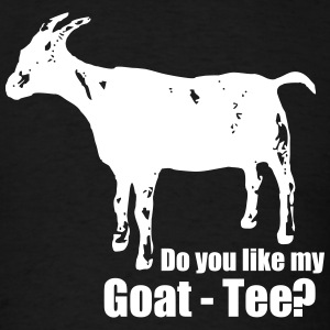 Do you like my goat-tee? - Men's T-Shirt