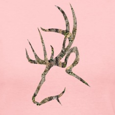 Camo Buck Logo Head Long Sleeve Shirts