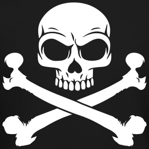Custom Pirate Skull & Crossbones Jolly Rogers Flag Long Sleeve Shirts - Crewneck Sweatshirt