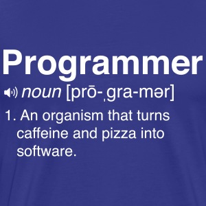 Funny programmer definition T-Shirts - Men's Premium T-Shirt