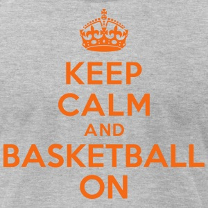 Keep calm and basketball on crown T-Shirts - Men's T-Shirt by American Apparel
