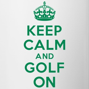 Keep calm and golf on crown Accessories - Contrast Coffee Mug
