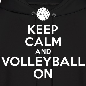 Keep calm and volleyball on Hoodies - Men's Hoodie