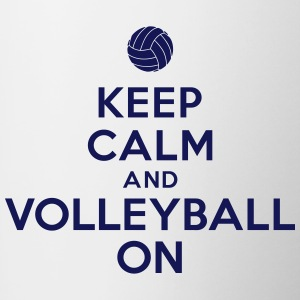 Keep calm and volleyball on Accessories - Contrast Coffee Mug