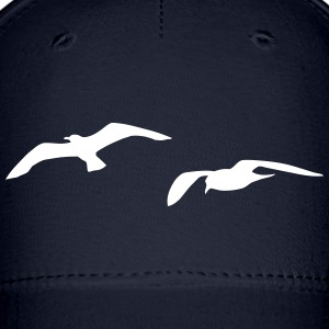 sea gull seagull harbour bird beach sailing ocean Caps - Baseball Cap