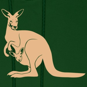 kangaroo roo australia new zealand downunder  Hoodies - Men's Hoodie