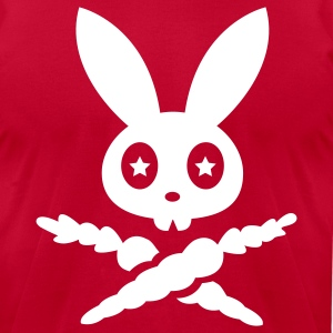 rabbit hare bunny bunnies carrots star eyes scull T-Shirts - Men's T-Shirt by American Apparel